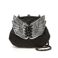 Free shipping!Wings plaid chain bag handbag cross-body bag female clutch
