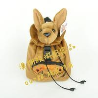 Free shipping kangaroo doll backpack kangaroo toy backpack plush kangaroo backpack