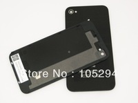 Free Shipping Glass Rear Back Cover With Bezel Frame Assembly Housing as original for Apple iPhone 4gs 4s Black Replacement