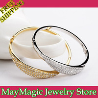 Nebula Austrian crystal bracelet, female gold plated bangle wholesale, Free shipping