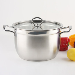 Elegant stainless steel soup pot sauceboxes soup pot kitchen supplies cooking pots and pans(China (Mainland))