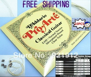 Free Shipping 10 Sales best  EJ45 Pro-Arte Nylon Classical Guitar Strings Normal Tension