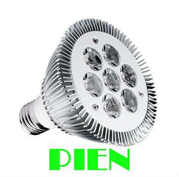 E27 LED Light Par30 7W Spotlight Par 30 Bulb Light Indooor high power Lamp Warm|Cold white 85V-265V Free Shipping 5pcs/lot(China (Mainland))