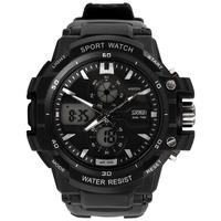 Dual display watches male multifunctional waterproof electronic watch luminous limit outside sport mens watch