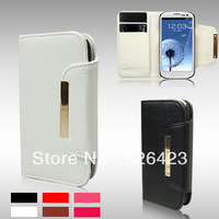 Removeable Flip Wallet Leather Case For Samsung Galaxy S3  i9300