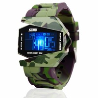 Hot selling boy and girl Watch whole sale fashion Military camouflage electronic watch led waterproof child sports jelly watches
