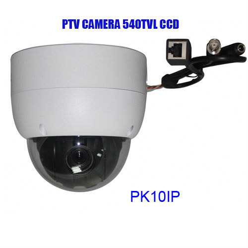 PTZ camera IP network Dome Sony CCD Color 540TVL,B/W 600TVL, 10X Optiacl Zoom, 10X Digital Zoom CCTV security system(China (Mainland))