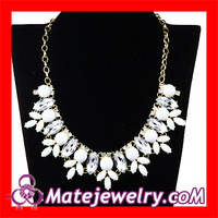 2pieces/lot Free Shipping Wholesale Fashion Bijoux Chunky White Resin Bubble Rhinestone Crystal Bib Necklace For Women,JW0076-9