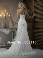 QN130530-0908  Classical Strapless Chiffon and Satin with Beading  Bridal Dresses