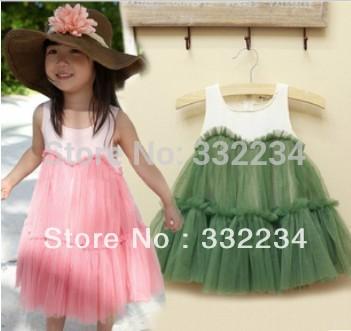 Free shipping 2014 new Korean girls gauze dress children's tutu dress kis Princess dress,cake voile lace dress high quality(China (Mainland))