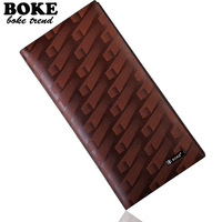 Boke long design wallet genuine leather cowhide business casual wallet multi card holder multifunctional gift box packaging