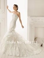 QN130530-0912 Classical Strapless Lace  Bridal Dresses