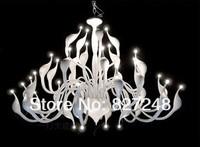 Italian design modern style lamps 220v 110v 36*20w bulbs headlight g4 iron swan lamp chandelier lighting for hotel hall white