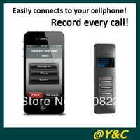 Hot selling! 8GB Bluetooth voice recorder with metal Shell VOSVOR system call phone recording free china post