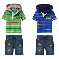 Retail Brand Boy's Hoodiest+Demin Pants/Children's Trousers+T-shirt/Boy's Casual Clothes 2In Sets/Baby Kids Suits