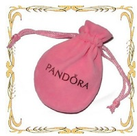 free shipping  wholesale Pandora  small jewelry  pouch bag  in velvet fabric