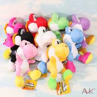 Free Shipping Super Mario Bros Yoshi Dragon Soft Plush Toy Doll 9PCS/SET 21CM High Quality Japanese Anime Toys