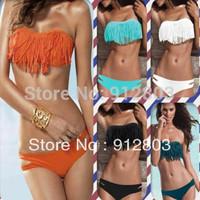 [ANYTIME] Women's BRAND LOGO Swimwear, 2014 Hot Sell 2 pcs Sexy Bikini Padded Bra Swimsuit,  Ladies' Bathing Suit Set S-M-L