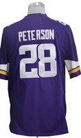 #28 Adrian Peterson Men's Game Team Purple Football Jersey