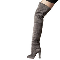 Designer shoes high heel red bottom shoes classic coffee sheep wool knee-high boots boots