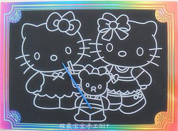 Yakuchinone handmade diy Large scratch picture scraping drawing paper painting paint brush