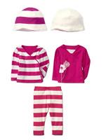 Retail Brand Girl's Shirt+PP Pants+Hat/Children's Pants+Blouse+Cap/Boy's Casual Clothes 3In Sets