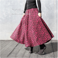 1212 ! 2012 woolen thickening bust skirt full dress