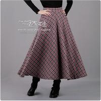 Thickening woolen bust skirt full dress expansion skirt . rose