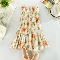 2013 female beach dress linen skirt expansion half-length skirt full dress full dress spring bohemia cotton bust skirt