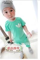 2013 summer children's clothing boy girl short sleeve dress free shipping