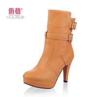 2013 autumn and winter snow boots fashion vintage platform boots women's shoes high-heeled martin boots fashion wedge boot @