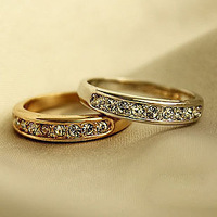 Min.order is $10 (mix order) accessories single row all-match ring pinky ring elegant brief finger ring female 3027