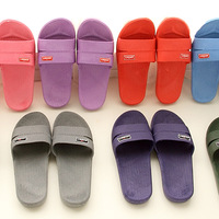 Lovers slippers candy color bathroom slippers slip-resistant home slippers at home 31105