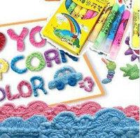 Free Shipping! 6 PCS Korean Stationery 3D magic Popcorn Jelly Sign Paint Pen/marker Embellish Kid Puffy Decorate Bubble DIY