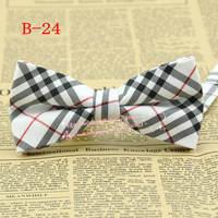 Men Multi-color Diamond Tartan Check Plaid pre-tie adjustable Tuxedo party bowtie,mens fashion cotton Bow tie/butterfly,B24