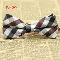 New,Hot,Men Old school Vintage Brown/balck/white Medium check pre-tied adjustable Tuxedo bowtie,mens Bow tie/butterfly,B29