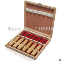 Free shipping 6pcs Wood carving tool set of 6 Carving chisel Carving Knife Carving Set