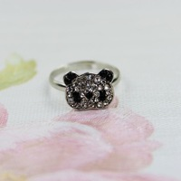 Accessories fashion female bear diamond ring cw-17 ,