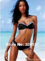 Free shipping fashion bikini women steel prop flouncing bikini swimsuit split Spa Beach Bikini swimwear sexy swimsuit