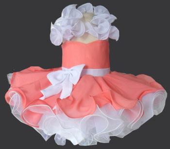 frete grátis 2012 venda quente vestidos de festa meninas estilo tutu espartilho imagem real