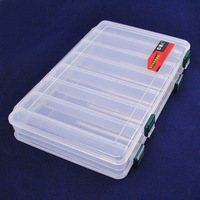 Lure box double faced 27 17 4.5cm transparent tool box accessories box fishing supplies