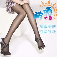 Free shipping Double 5 ultraviolet concealer sunscreen skin beauty t seamless stockings silk pantyhose