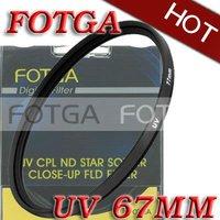 Free shipping!Wholesale!Fotga 67mm 67 mm Haze UV Filter Lens Protector for Canon Nikon Sony Olympus Camera