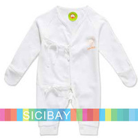 Free Shipping Baby Cotton Jumpsuits for Newborn Wear, 100% Cotton,3sets/lot K0983