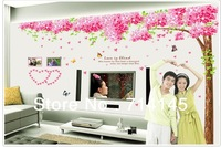 Free Shipping 250*220cm Large Sakura Live Wallpaper Home Decor