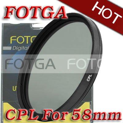 Free Shipping!Fotga OEM Wholesal 58mm Circular Polarizing CPL C-PL Filter Lens 58mm For Canon NIKON Sony Olympus Camera(Hong Kong)