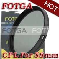 Free Shipping!Fotga Wholesal 58mm Circular Polarizing CPL C-PL Filter Lens 58mm For Canon NIKON Sony Olympus Camera