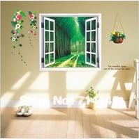 Free Shipping 120*60cm Fake window Wallpaper Home Decor