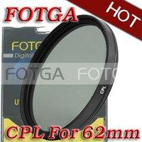 Free Shipping!Fotga Wholesal 62mm Circular Polarizing CPL C-PL Filter Lens 62mm For Canon NIKON Sony Olympus Camera