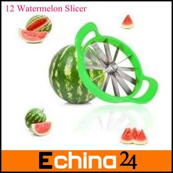 Slices 12 Even Slices Cantaloupe Melon Slice Device Kitchen Fruit Corer Watermelon Slicer Free Shipping